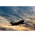 Plane in Sky vector image vector image