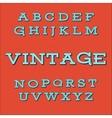 Retro Vintage Style Alphabet font vector image