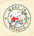 Stamp with map flag of Dhekelia vector image