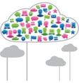 Social media clouds vector image vector image