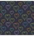 Abstract Hearts on a dark background vector image