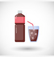 Cola flat icon vector image