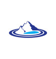 mountains lake logo image vector image