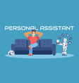 personal robot assistent vector image