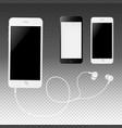phone with earphones vector image