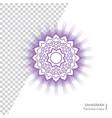 sahasrara - crown chakra of human body vector image