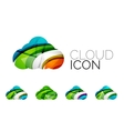 Set of abstract cloud computing icons business vector image