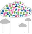 Social media clouds vector image