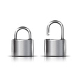 Two icons - padlock vector image