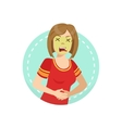 Disgusted Emotion Body Language vector image