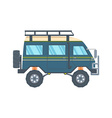 Off-road Vehicle Van with mud tire vector image