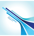 blue arrow strips vector image vector image
