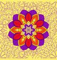 mandala floral seamless pattern vector image