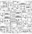 Seamless city sketch vector image