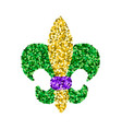 Mardi gras sign vector image