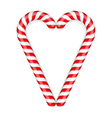 Candy Canes Heart vector image