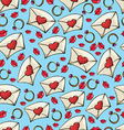 pattern with lips and a letter to Valentines Day vector image