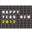 happy new year railway ticker board vector image vector image