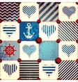 Patchwork in nautical style vector image
