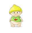 cartoon boy with hat lemon vector image