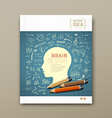 Cover Magazine Sketch hand drawn science icons vector image