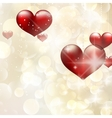 Elegant red billboard with hearts EPS 10 vector image