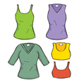 Female clothing vector image