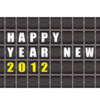 happy new year railway ticker board vector image