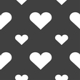 Heart Love icon sign Seamless pattern on a gray vector image