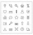 Icon set e-Commerce Flat linear design shopping vector image