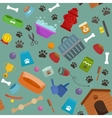 Pet shop dog goods and supplies store products vector image