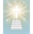 Religious background with white cross vector image