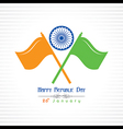 Republic Day greeting with indian flag vector image