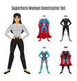 superhero woman constructor set vector image