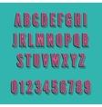 Vintage alphabet font vector image