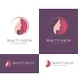 Beauty salon round logo vector image vector image