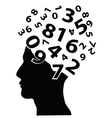 numbers head vector image vector image