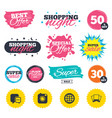social media icons chat speech bubble and globe vector image