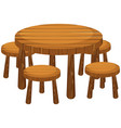round table and chairs vector image