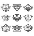 vintage monochrome military labels set vector image