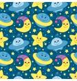Children space pattern vector image vector image