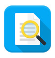 Document search app icon with long shadow vector image