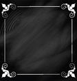Decorative chalkboard background vector image vector image