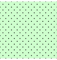 Tile spring pattern with black polka dots on green vector image vector image