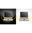 laptops with wireless signal vector image vector image