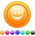 Smiley circle button vector image vector image