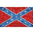Confederate flag on a brick wall vector image
