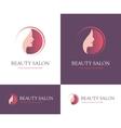 Beauty salon round logo vector image