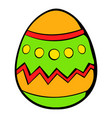 colorful easter egg icon icon cartoon vector image