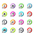 Connected people social network human icons set vector image